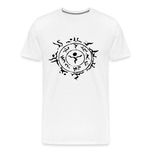 [M] Black Schwarz Stein Hora Face Paint - Men's Premium T-Shirt
