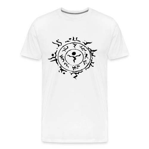[M] Black Schwarz Stein Hora Face Paint - Men's Premium T-Shirt