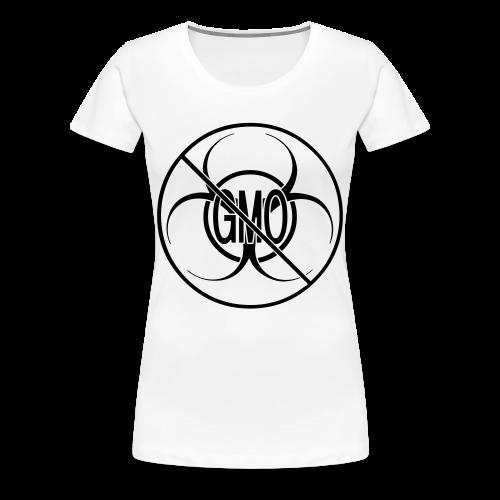 No GMO Shirts Plus Size NO GMO Bio-hazard Womens' Shirts - Women's Premium T-Shirt