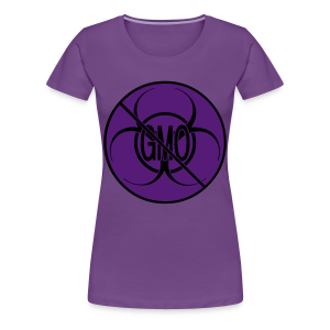 No GMO Shirts Plus Size NO GMO Bio-hazard Womens' Shirts - Women's Premium T-Shirt