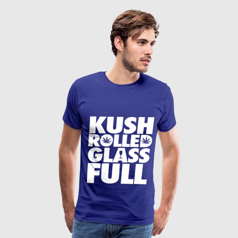 Kush Rolled Glass Full T-Shirts - Men's Premium T-Shirt