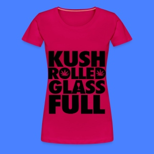Kush Rolled Glass Full Women's T-Shirts - Women's Premium T-Shirt