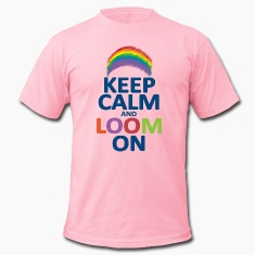 Keep Calm and Loom On Rainbow T-Shirts