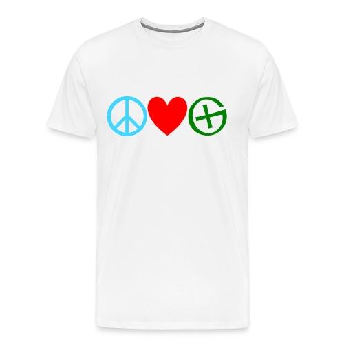 Peace. Love. Geocaching. - Men's Premium T-Shirt