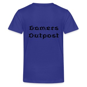 Kids' Premium T-Shirt - Gamersoutpost shirt with standard logo on back.