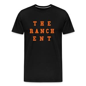 Original Men's T 3 Orange on Black - Men's Premium T-Shirt
