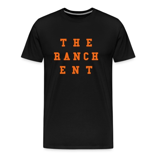 Original Men's T 3 Orange on Black - Men's Premium T-Shirt