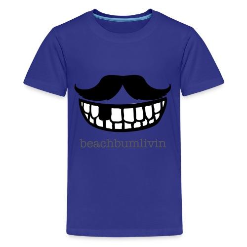 Mustache_smile_2.png - Kids' Premium T-Shirt