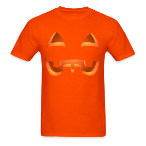 Jack-o-lantern Halloween T-Shirt Men's Orange Pumpkin Shirt - Men's T-Shirt