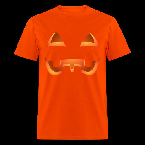 Jack-o-lantern Halloween T-Shirt Men's Orange Pumpkin Shirt - Men's T-Shirt
