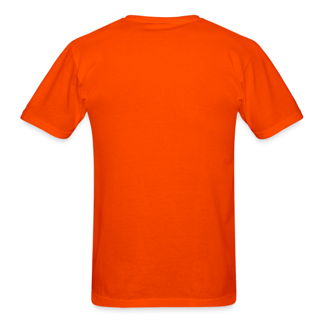 Jack-o-lantern Halloween T-Shirt Men's Orange Pumpkin Shirt