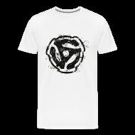 T-Shirts ~ Men's Premium T-Shirt ~ 45 R.P.M. T-Shirt (Men/White)