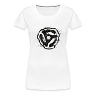 T-Shirts ~ Women's Premium T-Shirt ~ 45 R.P.M. T-Shirt (Women/White)