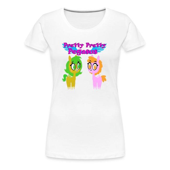 Brony Barn Pretty Pretty Pegasus Womens Premium T Shirt