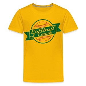 Softball Coach Retro Style T-Shirt - Kids' Premium T-Shirt