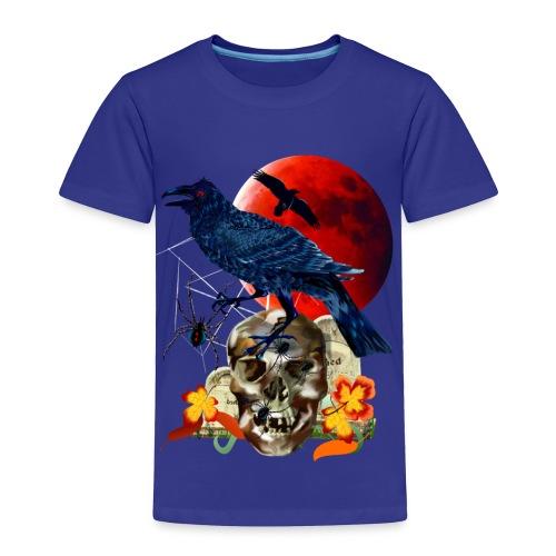 Black Raven-Red Moon  - Toddler Premium T-Shirt