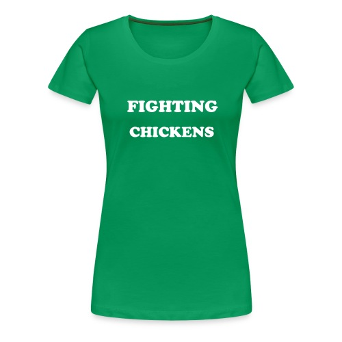 Fighting Chickens - Women's Premium T-Shirt