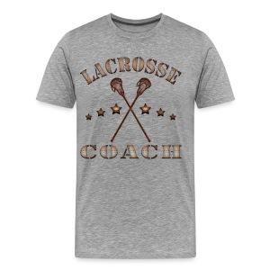 Lacrosse Coach Steampunk T-Shirt - Men's Premium T-Shirt
