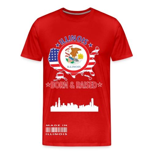 Slaughter Wear Illinois Tee - Men's Premium T-Shirt