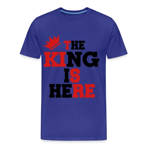 K.V-The King Is Here Shirt - Men's Premium T-Shirt