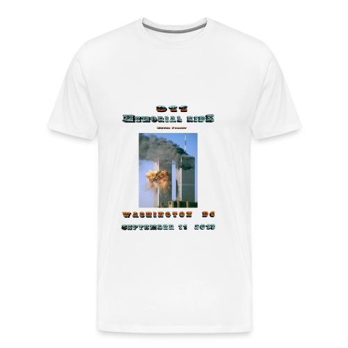 911 Motorcycle Memorial Ride to Washington DC Sept 11,2103 White Short Sleeve T-shirt - Men's Premium T-Shirt