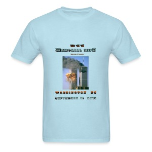 911 Motorcycle Memorial Ride to Washington DC Sept 11,2103 Light Blue Short Sleeve T-shirt - Men's T-Shirt