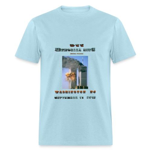 911 Motorcycle Memorial Ride to Washington DC Sept 11,2103 Light Blue Short Sleeve T-shirt - Men's T-Shirt