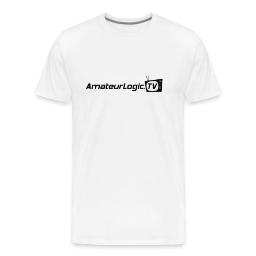 AmateurLogic 3/4XL T-Shirt (Black Logo) - Men's Premium T-Shirt
