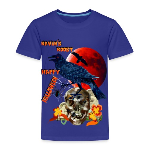 Raven and Red Moon-lettered - Toddler Premium T-Shirt