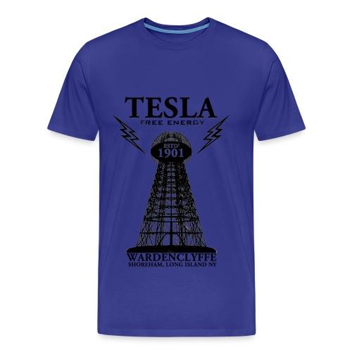 Tesla  - Royal Blue - Men's Premium T-Shirt