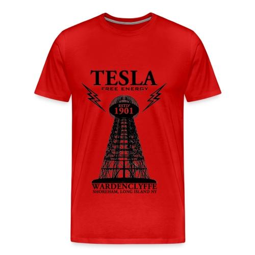 Tesla - Red - Men's Premium T-Shirt