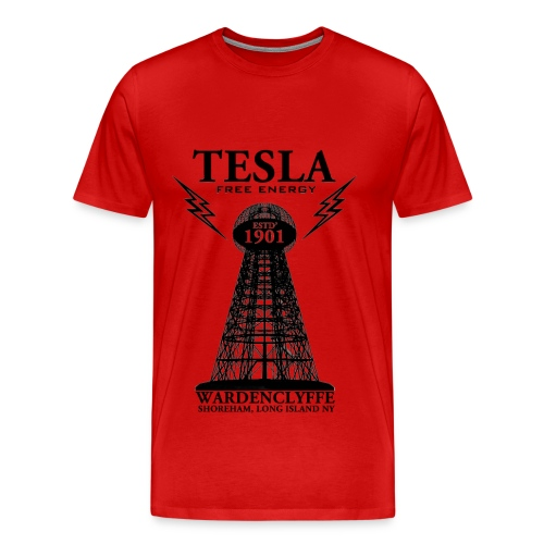 Tesla - Red - Men's Premium T-Shirt