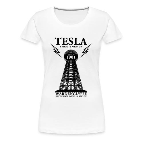 Tesla Wardenclyffe T-Shirt (white) - Women's Premium T-Shirt