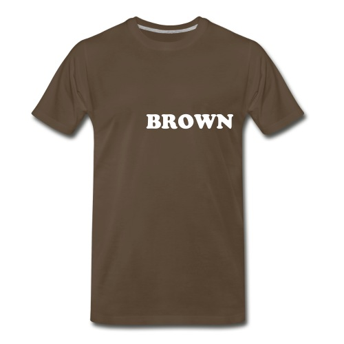 BROWN - Men's Premium T-Shirt