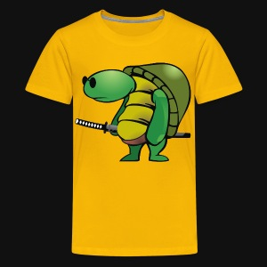 yakuza, turtle with sword - Kids' Premium T-Shirt