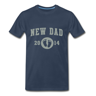 New Dad baby feet 2014 T-Shirts