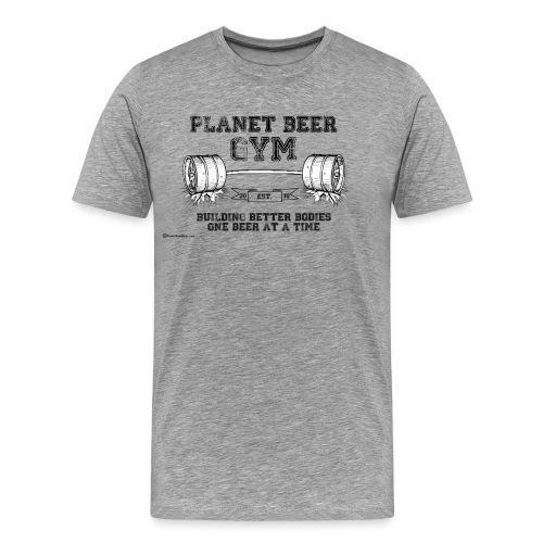 Planet Beer Gym 3XL/4Xl T-Shirt - Men's Premium T-Shirt