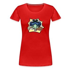 Nerdy Paca Ladies Fitted Tee - Women's Premium T-Shirt