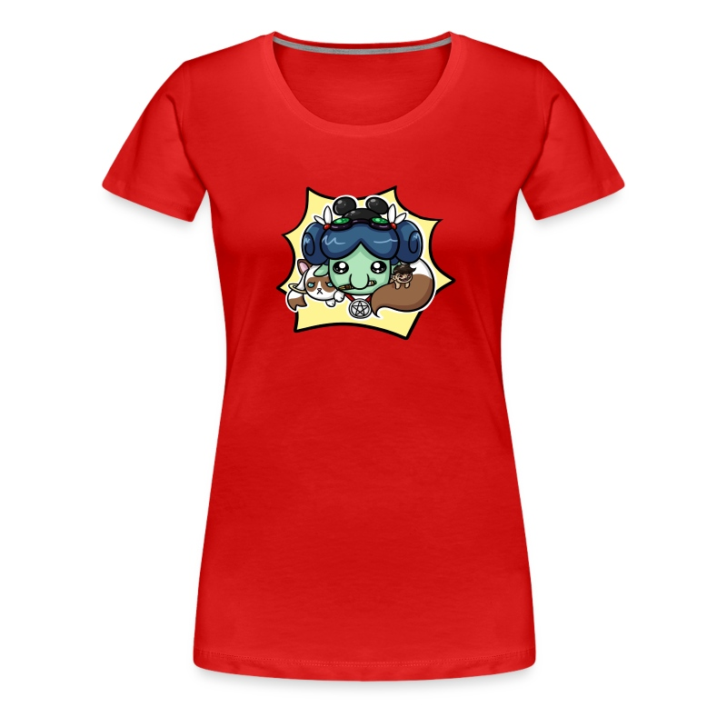 Nerdy Paca Ladies Fitted Tee - Women's Premium T-Shirt