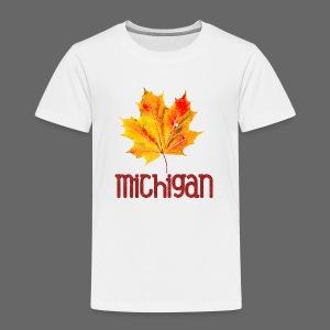 Autumn Michigan Leaf - Toddler Premium T-Shirt