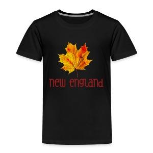 Autumn New England Leaf - Toddler Premium T-Shirt