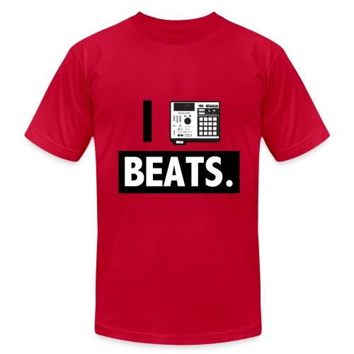 I love BEATS Hoodie - Men's  Jersey T-Shirt