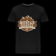 T-Shirts ~ Men's Premium T-Shirt ~ Mountain Country 107.9 Premimum T-Shirt Sizes up to 5X