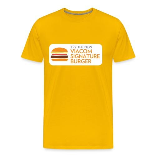 Viacom Signature Burger - Men's Premium T-Shirt
