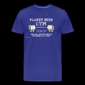 Planet Beer Gym Men's 3XL/4XL T-Shirt - Men's Premium T-Shirt