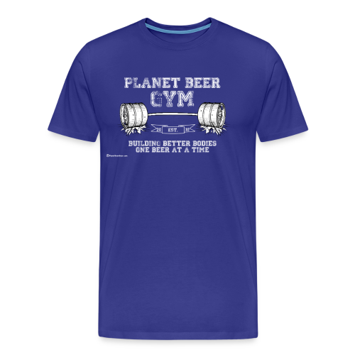 Planet Beer Gym Men's 3XL/4XL T-Shirt - Men's Premium T-Shirt