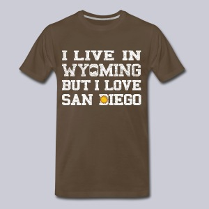 Live Wyoming Love San Diego - Men's Premium T-Shirt