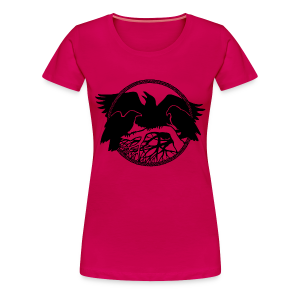 Raven Art T-Shirt Plus Size Women's Raven Spirit Animal Shirt - Women's Premium T-Shirt