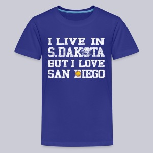 Live South Dakota Love San Diego - Kids' Premium T-Shirt