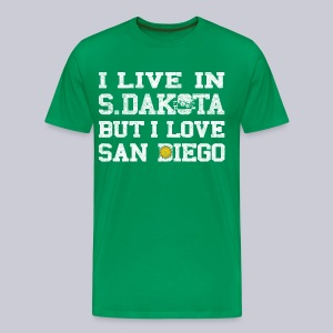Live South Dakota Love San Diego - Men's Premium T-Shirt
